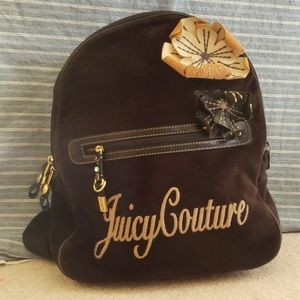 Juicy Couture Black Velour Backpack